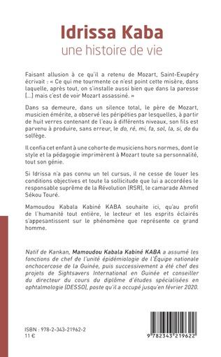 4eme Idrissa Kaba une histoire de vie. Témoignage