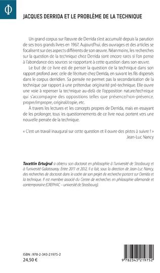 4eme Jacques Derrida et le problème de la technique
