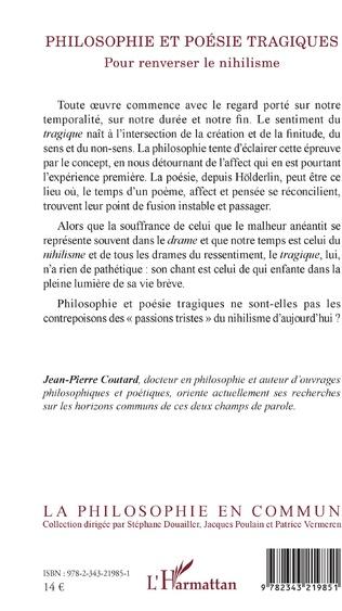 4eme Philosophie et poésie tragiques