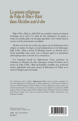 4eme La pensée religieuse de Fahr d-Din r-Razi dans Ma'alim usul d-din