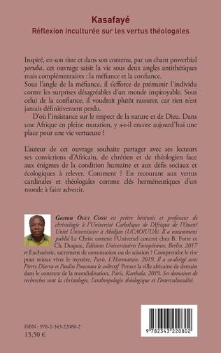 4eme Kasafayé. Réflexion inculturée sur les vertus théologales