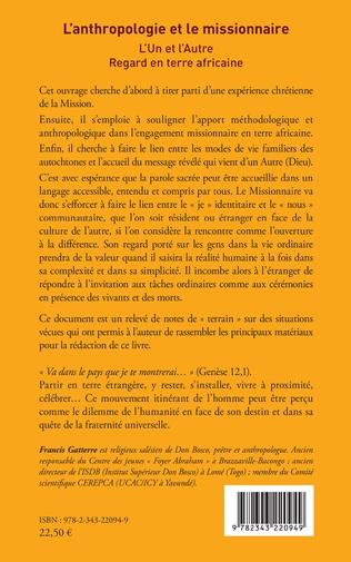 4eme L'anthropologie et le missionnaire.