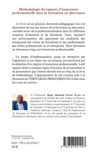 4eme Méthodologie du rapport d'immersion professionnelle dans la formation en alternance
