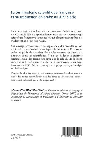 4eme La terminologie scientifique française et sa traduction en arabe au XIXe siècle