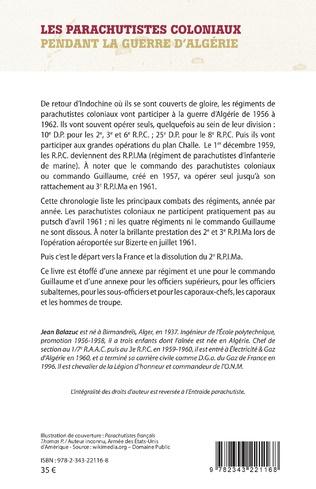 4eme Les parachutistes coloniaux pendant la guerre d'Algérie