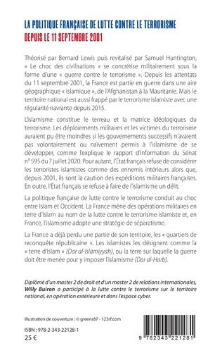 4eme La politique française de lutte contre le terrorisme depuis le 11 septembre 2001