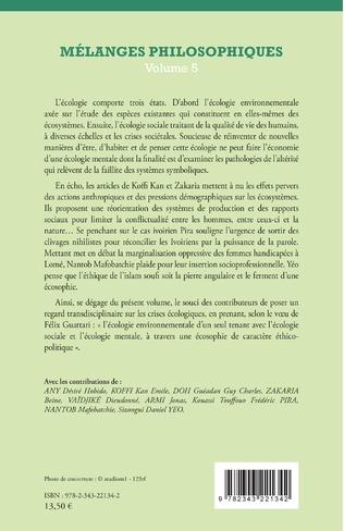 4eme Mélanges philosophiques Volume 5
