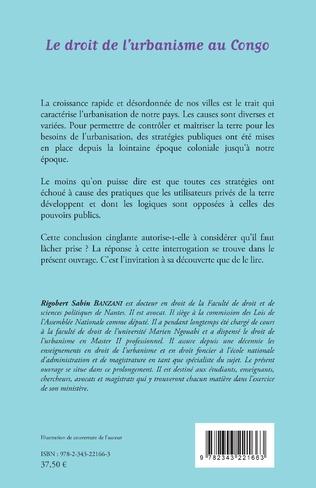4eme Le droit de l'urbanisme au Congo