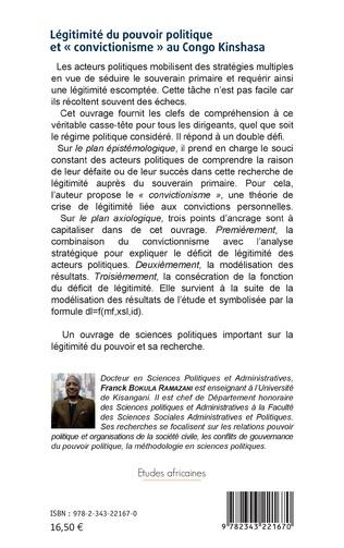 4eme Légitimité du pouvoir politique et « convictionisme » au Congo Kinshasa