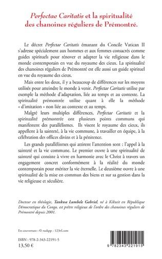 4eme Perfectae caritatis et la spiritualité des chanoines réguliers de Prémontré