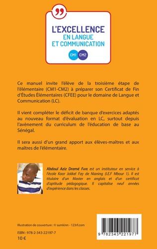 4eme L'excellence en langue et communication CM1-CM2