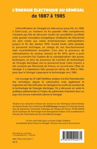 4eme L'énergie électrique au Sénégal de 1887 à 1985