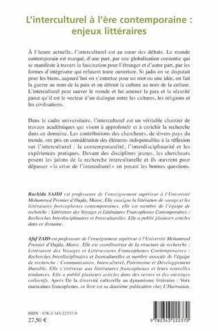 4eme L'interculturel à l'ère contemporaine : enjeux littéraires