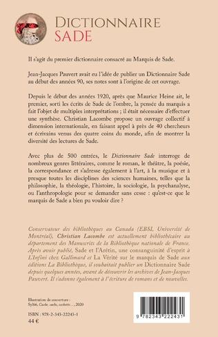 4eme Dictionnaire Sade