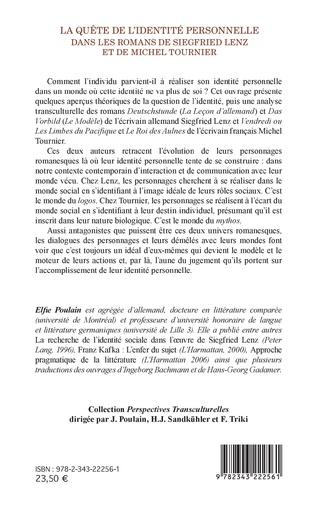 4eme La quête de l'identité personnelle dans les romans de Siegfried Lenz et de Michel Tournier