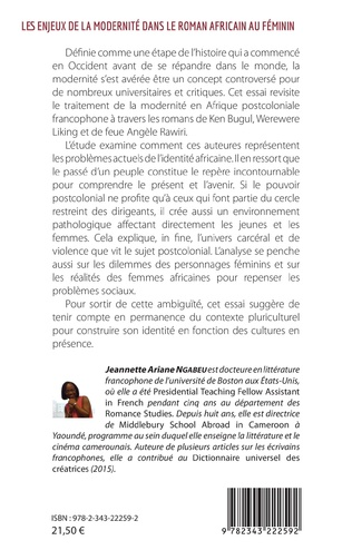 4eme Les enjeux de la modernité dans le roman africain au féminin