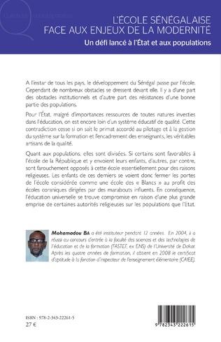 4eme L'école sénégalaise face aux enjeux de la modernité