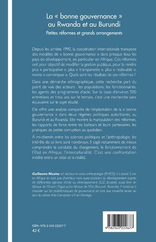 4eme La bonne gouvernance au Rwanda et au Burundi