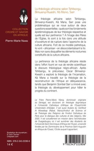4eme La théologie africaine selon Tshibangu, Bimwenyi-Kweshi, Kä Mana, Sarr