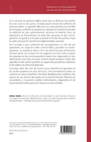 4eme Garantie et contre-garantie au service du contrat initial