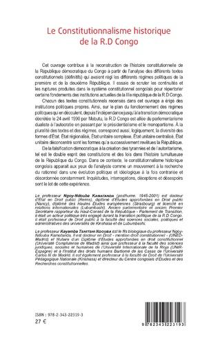 4eme Le Constitutionnalisme historique de la R.D Congo