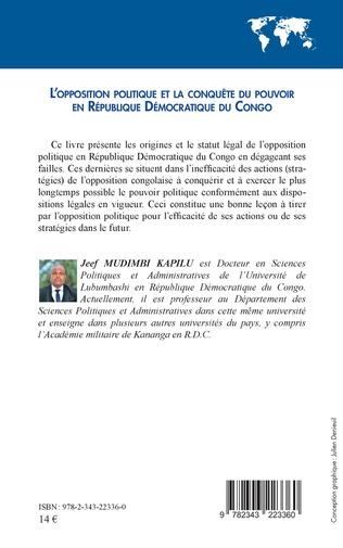 4eme L'opposition politique et la conquête du pouvoir en République démocratique du Congo