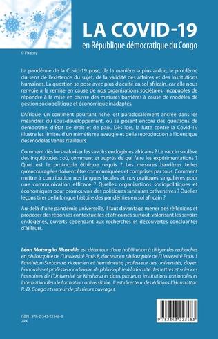 4eme La COVID-19 en République démocratique du Congo. Défis et perspectives