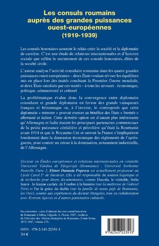 4eme Les consuls roumains auprès des grandes puissances ouest-européennes