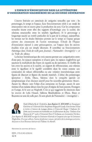 4eme L'espace d'énonciation dans la littérature d'immigration maghrébine de la seconde génération