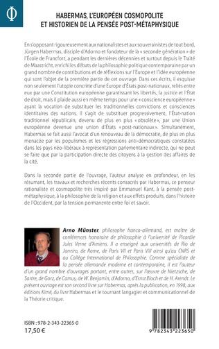 4eme Habermas, l'européen cosmopolite et historien de la pensée post-métaphysique