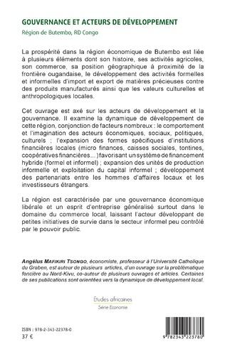 4eme Gouvernance et acteurs du développement