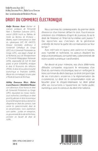 4eme Droit du commerce électronique