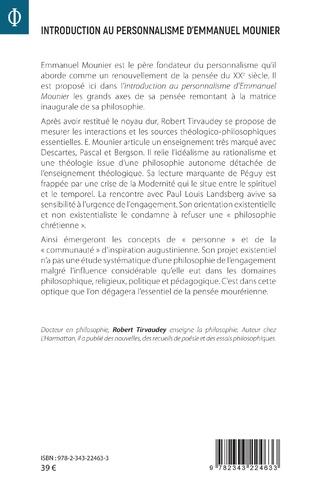 4eme Introduction au personnalisme d'Emmanuel Mounier