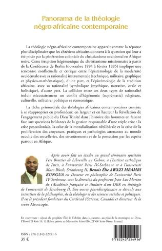 4eme Panorama de la théologie négro-africaine contemporaine