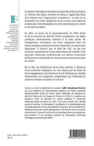 4eme L'influence du droit international des changements climatiques sur le droit de l'environnement de l'Union européenne