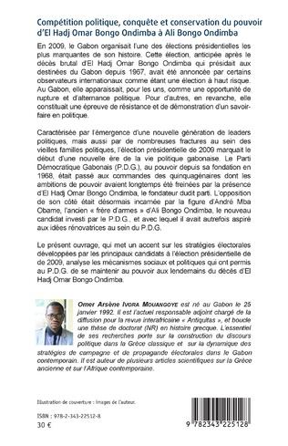 4eme Compétition politique, conquête et conservation du pouvoir d'El Hadj Omar Bongo Ondimba à Ali Bongo Ondimba