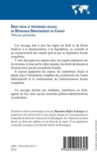 4eme Droit fiscal et procédures fiscales en République Démocratique du Congo