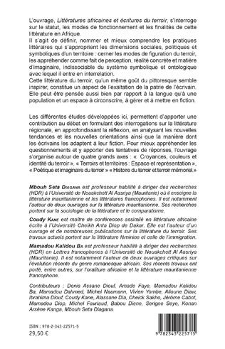 4eme Littératures africaines et écritures du terroir