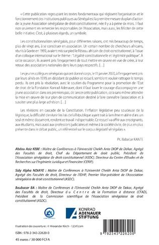 4eme Textes fondamentaux de la République du Sénégal