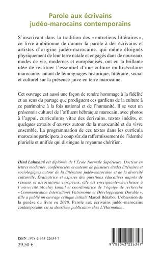 4eme Parole aux écrivains judéo-marocains contemporains