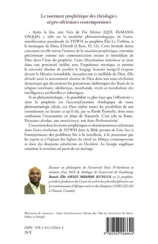 4eme Le tournant prophétique des théologies négro-africaines contemporaines