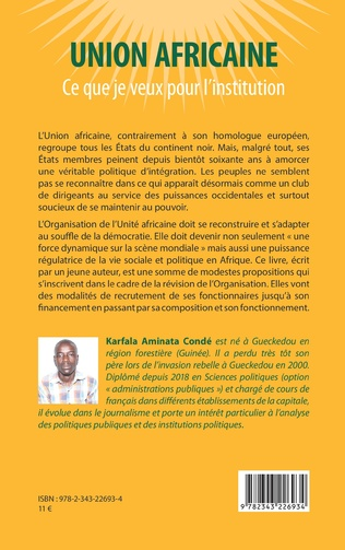 4eme Union africaine. Ce que je veux pour l'institution
