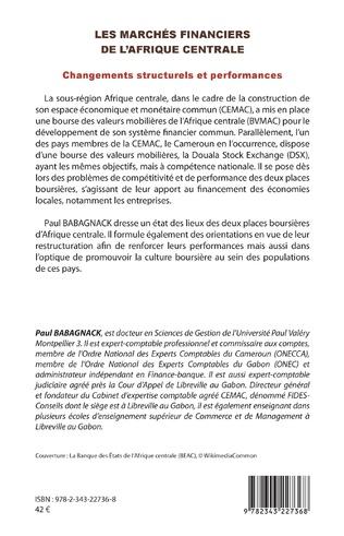 4eme Les marchés financiers de l'Afrique centrale