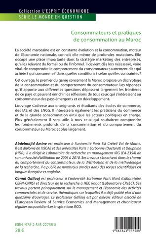 4eme Consommateurs et pratiques de consommation au Maroc