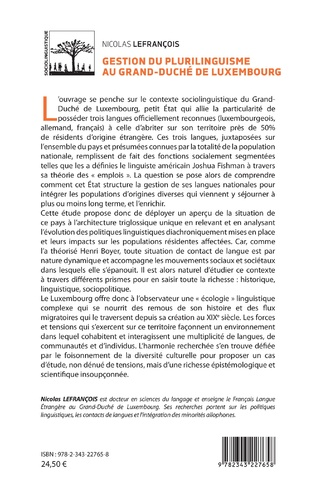 4eme Gestion du plurilinguisme au Grand-Duché de Luxembourg