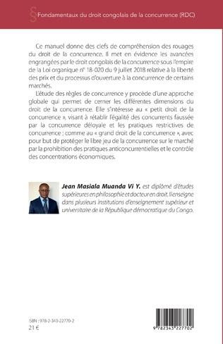 4eme Fondamentaux du droit congolais de la concurrence (RDC)