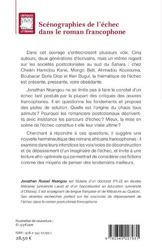 4eme Scénographies de l'échec dans le roman francophone