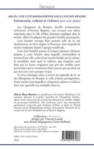 4eme Arles : une cité rhodanienne sous l'Ancien Régime