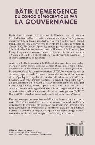 4eme Bâtir l'émergence du Congo démocratique par la gouvernance