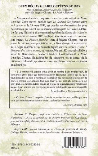 4eme Deux récits guadeloupéens de 1833